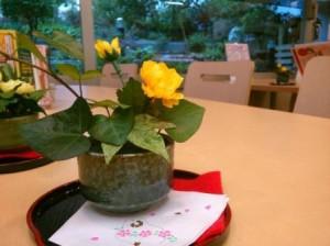 葉はお庭のアイビーです。造花ではありません。